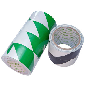 PVC green and white floor tape