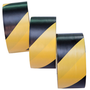 PVC black and yellow floor tape